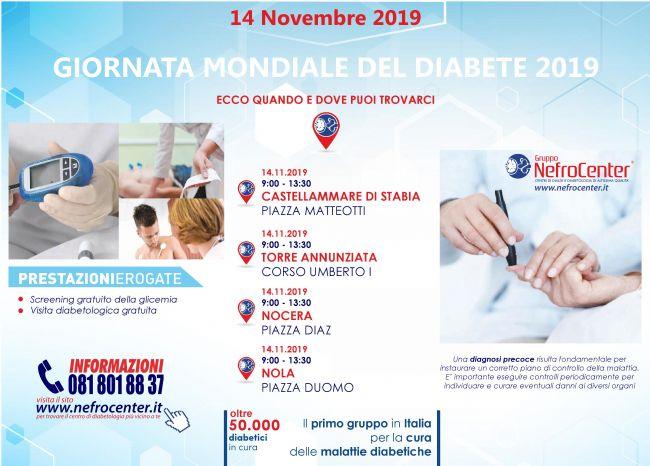 Giornata Mondiale del Diabete: visite gratuite a Castellammare di Stabia dagli specialisti Nefrocenter - StabiaChannel.it